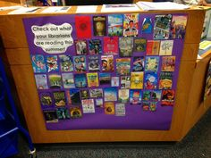 LOVE this idea!! Show the teens what you're reading with book covers