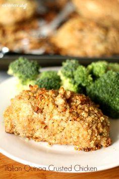 Italian Quinoa Crusted Chicken