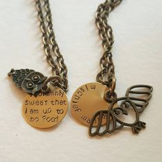 Custom Harry Potter Friendship Necklace Set with Owl by megal0d0nn