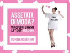 """Concorso """"Drink Moschino"""" and win a t-shirt on Coca-Cola Light site"""