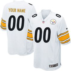 f593b20ee93 Nike New Pittsburgh Steelers Customized White Stitched Elite Youth NFL  Jersey Pittsburgh Steelers Game, Steelers