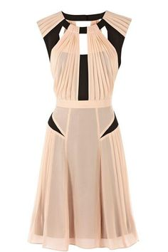 Peach and Black Dress, lovely combo (eg in crepe)