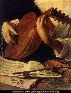 The Lute Player (Detail 1) Caravaggio Italian 1571-1610 c. 1596 Baroque Oil on canvas Hermitage Museum, St. Petersburg, Russia