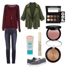 """""""everyday look"""" by fashiongurlz07 on Polyvore featuring Tory Burch, Fred Perry, Vans, LC Lauren Conrad, LORAC, L'Oréal Paris and Maybelline"""