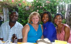 With the tourist board guides at Beaches Negril resort