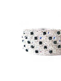 Black & White' Cuff bracelet  Swarovski by JewelrybyFlorist, $130.00