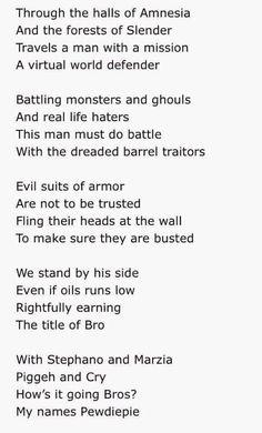 Badass PewDiePie poem!