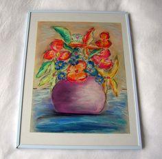 Dessin réalisé aux pastels représentant une composition par Syell