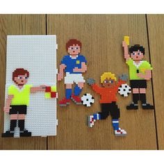Football/soccer hama beads by sheila_mcvitty