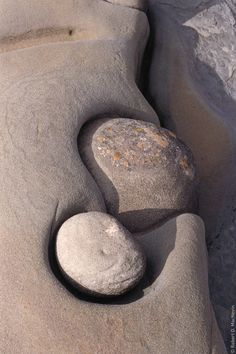 "*""Sculpted in Time"" - Rocks sculpted over a very long time by the tides on the shore of Helliwell Park on Hornby Island, BC, Canada. (by Robert D. MacNevin)"