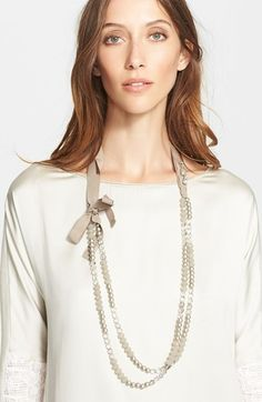 Fabiana Filippi Crystal Bead & Glass Pearl Necklace on shopstyle.com