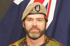 Corporal Doug Grant, NZSAS, killed in action in Kabul in August When terrorists attacked the British Council, the brave Kiwi moved forward to protect three British civilians and two Gurkha guards. He was shot in the chest. Special Air Service, British Council, Killed In Action, Special Forces, People Around The World, Dear Friend, Moving Forward, Military Jacket, Kiwi