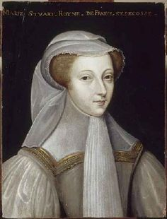 Mary Queen of Scots, aged 19, in white mourning to mark the loss of three members of her immediate family within a period of 18 months. Her father-in-law Henry II died in July 1559; her mother Mary of Guise died in Scotland in June 1560; and in December of the same year her husband Francis II died. Mary, no longer Queen of France, returned to Scotland in August 1561.