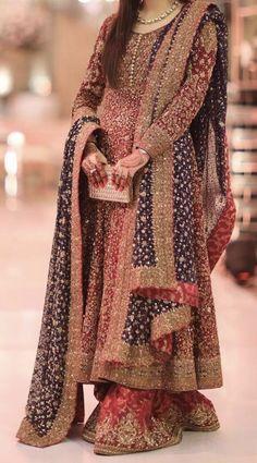 Pakistani Wedding Outfits, Bridal Outfits, Pakistani Dresses, Indian Dresses, India Fashion Week, Dress Attire, Lehenga Designs, Desi Clothes, Party Wear Dresses