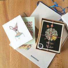 Got some pretty great loot from @thehandmaidens #handmademarket this weekend!  Goodies from @anopensketchbook  @moderndisaster  @juanitasadventures ...and yes it's mostly paper goods   Have you started shopping yet?  PS! #saradoes will be at @themakerync holiday gift market this Friday from 6-9! Come to #durm and get some #shoplocaldurham in   PPS! Go follow @thesnarkshop to see all the loot in detail in my #99holidaycards quest!