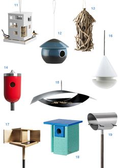 Modern Bird Houses And Bird Feeders