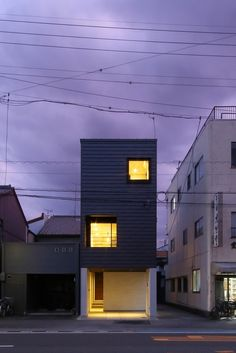 Japanese Modern House, Narrow House, Minimal Home, Dark Side, Minimalism, Condo, Villa, Exterior, Interior Design