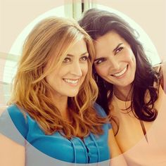 sasha alexander and angie harmon!! Love them on Rizzoli&Isles!!!!!