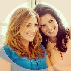 sasha alexander and angie harmon!! Love them on Rizzoli&Isles!!!!!