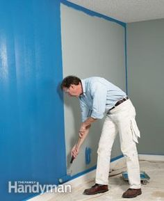 How to quickly paint a room - great tips from a pro painter. Load the roller with paint and start at the bottom