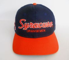 38e40aecd53 Sports Specialties Syracuse Orangemen Snapback 034 The Twill 034 90s  Vintage NCAA EUC