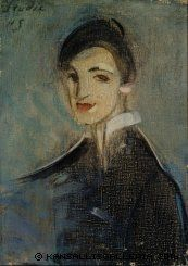 Helene Schjerfbeck - Singer in Black, 1916 - Painting: oil on canvas Helene Schjerfbeck, Helsinki, Figure Painting, Painting & Drawing, Portrait Art, Portraits, Female Painters, Montage Photo, Art Graphique