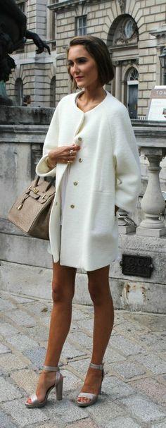 Zara white coat :)