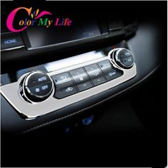 ABS Chrome Trim Sticker Air Conditioning Button Control Panel Cover for Toyota RAV 4 RAV4 2014 2015 2016 Car Accessories