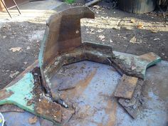 The trough had fallen into disrepair after many years. when we lifted it the base collapsed, it was at the end of its life