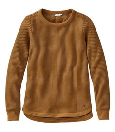 We brushed the inside of this textured cozy sweatshirt for extrasoft coziness and added a touch of stretch for supreme comfort. With an open boatneck and a mini-waffle texture, it's an essential for laid-back days. Slightly Fitted: Softly shapes the body. Falls at hip. In 96% polyester with 4% spandex. Machine wash and dry. Ribbed neckline, cuffs and hem. Curved hem falls lower in the back. Imported. Queen, Girly Outfits, Sweater Shirt, Boat Neck, Autumn Winter Fashion, Amazing Women, Waffle, Clothes For Women, Women's Sweatshirts