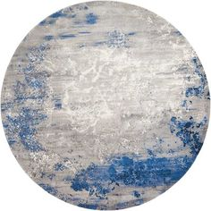 Latitude Run Antigua Blue/Gray Area Rug Rug Size: Round x Rug Texture, Linear Pattern, Yellow Area Rugs, Round Rugs, Eclectic Decor, Rugs On Carpet, Carpets, Neutral Colors, Rug Size