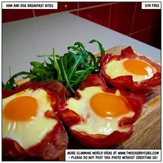 Easy to make (they take moments) ham and egg breakfast bites - syn free, tasty and ideal for a grab and go breakfast. Plus, lots of things to annoy... Remember, at www.twochubbycubs.com we post a new Slimming World recipe nearly every day. Our aim is good food, low in syns and served with enough laughs to make this dieting business worthwhile. Please share our recipes far and wide! We've also got a facebook group at www.facebook.com/twochubbycubs - enjoy!
