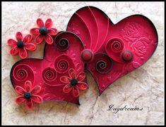DAYDREAMS: Quilled valentine.