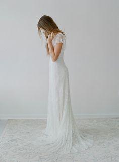 Hummingbird - Lace flutter sleeve dress - Style #TH2116 (2014 myra, bridal attire, dresses, gowns, myra callan bridal, view all)   Dresses  ...