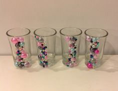Pearl Shot Glasses Decorated Shot Glasses by MaidenLongIsland