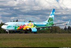 """Alaska Airlines new Boeing 737-890 """"Hawaii"""" Livery """"Spirit of the Islands"""" (N506AS) leaving Paine Field, Snohomish County, Everett. after paint job. June 2, 2013.   ..."""