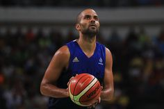 Tony Parker Photos Photos - Tony Parker #9 of France shoots a free thow during the Men's Quarterfinal match against Spain on Day 12 of the Rio 2016 Olympic Games at Carioca Arena 1 on August 17, 2016 in Rio de Janeiro, Brazil. - Basketball - Olympics: Day 12