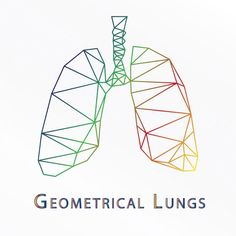Geometrical Art: Human Lungs created at ABGO Designs #Illustration #Adobe #Illustrator #ABGO