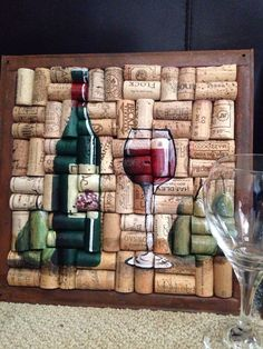 Wine bottle glass painting on cork with pears by WineALotMore