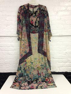 RARE 1970s Silk Matching Sleeveless DRESS and by CherylsHangUps