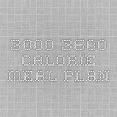 3000-3600 Calorie Meal Plan