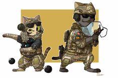 Valkyrie and Blackbeard cat by shurueder