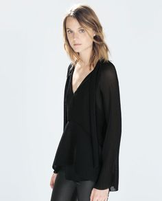ZARA - WOMAN - STUDIO PLEATED SHIRT