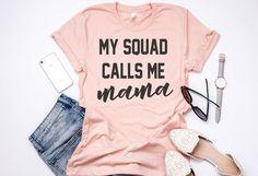 My Squad Calls Me Mama Crewneck T-Shirt