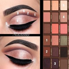 @toofaced Sweet Peach Palette Blend 1, 2 and 3 shades all together to achieve this look!