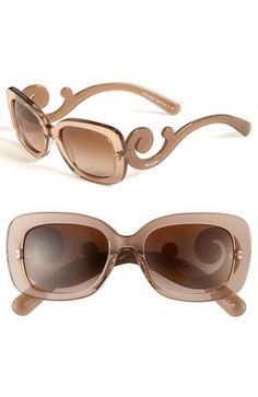 59c229d3a246 Prada Prada  Baroque  Sunglasses Brown  Brown Gradient One Size