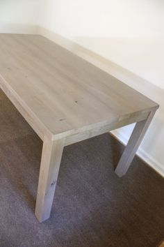 995 This Reclaimed Wood Gray Parsons Dining Table In Weathered Finish Is Made From Solid