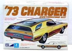 Rare MPC 1/25 SCALE '73 Charger Customizing Model Kit 1-7307-255 NOS Sealed Bags…