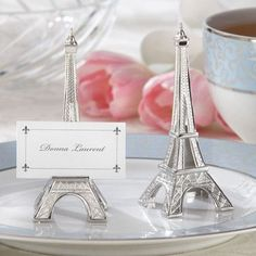 """Features:  -Set includes 4 place card holders.  -Finish: Silver.  -Small ledge on lower """"deck"""" holds place card or photo.  -Comes with place cards.  Reception: -Gift Card Holders.  Number of Items Inc"""