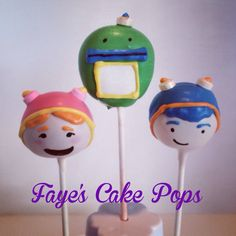Team Umizoomi cake pops by Faye's Cake Pops